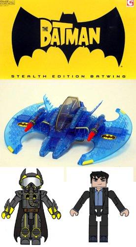Buy Low Price Art Asylum Batman Stealth Edition Batwing C3 with 2 Minimates Figures (Limited Edition San Diego Comic Con Exclusive) (B000E1EREU)