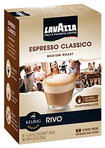 Lavazza Espresso Classico For Keurig Rivo System (0.26 Oz, Pack Of 18)
