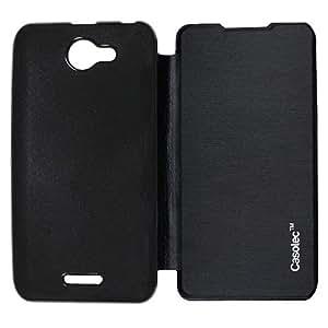 Casotec Premium Flip Case Cover for HTC Desire 516 - Black