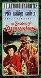 The Snows of Kilimanjaro [VHS]