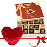 Valentine Chocholik's Belgium Chocolates - Smooth Sesame Treat Of Pralines Chocolates With Heart Pillow