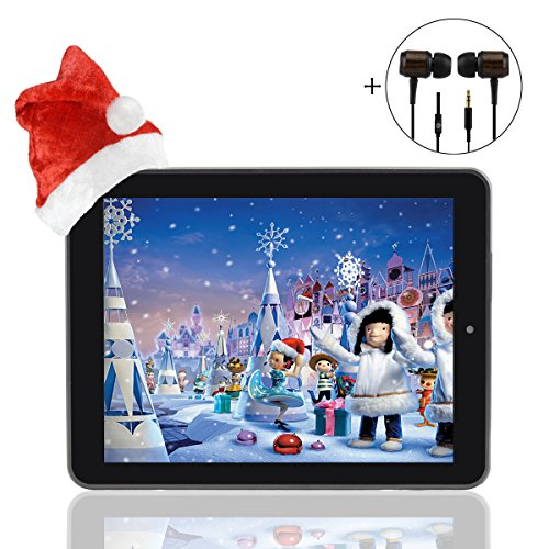 Megafeis M800 8 inch 8GB 1080P 1024�768 Dual Core Dual-Camera IPS Screen WIFI Bluetooth 5 point touch Android 4.1 Tablet PC Notebook Laptop Christmas New Year Thanksgiving Day Gift Present Kids Bundle with V70 3.5mm Ebony Wooden Stereo Super Bass Audio H