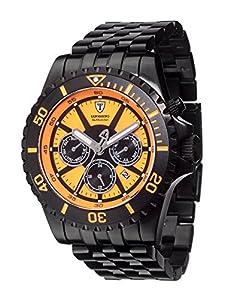 Detomaso San Marino- reloj hombre- automático- acero- sumergible- 20 atm- negro- nuevo