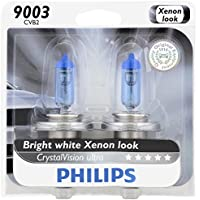 2-Pack Philips 9003 CrystalVision Ultra Upgrade Headlight Bulb