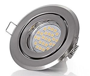 Einbaustrahler Set 5Watt LED 450Lumen warmweiss Leuchte Strahler Spot Einbauspot GU10 230Volt Ø100mm by LED Line