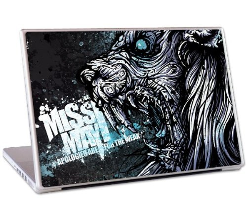 "MusicSkins - Skin protettiva con grafica per MacBook, MacBook Pro, MacBook Air e PC portatile da 13"", motivo: ""Miss May I Apologies Are Skin for The Weak"""