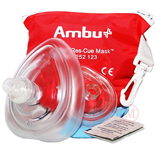 AMBU 000 252 123 Red PVC CPR Res-Cue Adult and Infant Face Masks (Adult Bag Valve Mask compare prices)