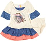 Roxy Teenie Wahine Oh Goodie Dress, Oatmeal, 6-9 Months