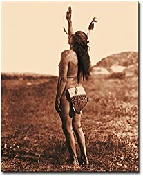 Sun Dancer Sioux Indian by Edward S. Curtis 11x14 Silver Halide Photo Print
