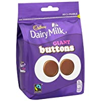 Cadbury Dairy Milk Chocolate Giant Buttons Sharing Bag 155 g (Pack of 5)
