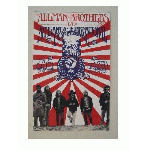 Amazon.com : The Allman Brothers Poster Atlanta Pop Festival : Prints