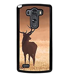 Fuson Premium 2D Back Case Cover Deer With grey Background Degined For LG G3::LG G3 D855