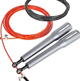 FireBreather Training SPEED ROPE - Blue | Fast Jump Rope for Crossfit - Boxing - Wod Exercise - Fitness | Includes Replacement Cable - Professional Handles - Set of Adjustable Screws & Carrying Bag