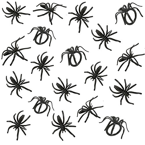 1-12-Black-Spider-Plastic-Rings-Halloween-Party-Favors-36-pieces