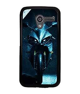 PrintVisa Metal Printed Bike Designer Back Case Cover for Motorola Moto X (1st Gen)-D5077