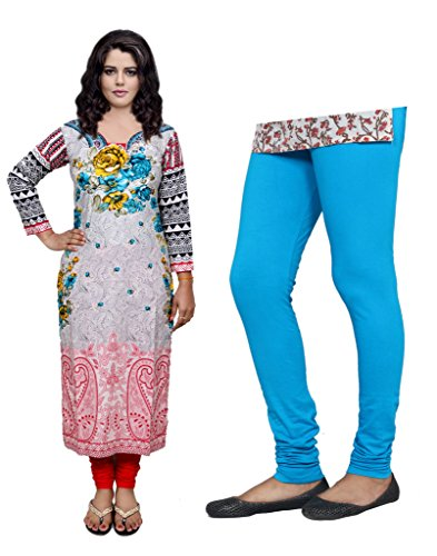 4 Indistar Womens Cotton Bio-Wash Legging with Cotton Capri Set of