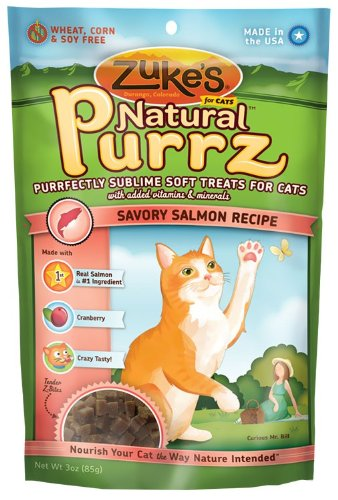 Zuke s Natural Purrz Cat Treats Salmon - 3 ozB0001STQ0Q