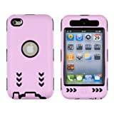 Gel Wrapped Hard Case for Apple iPod Touch 4G - Light Pink