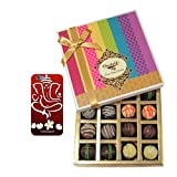 Chocholik Belgium Chocolates - Signature Collection Of Truffles Gift Box With With 3d Mobile Cover For IPhone...