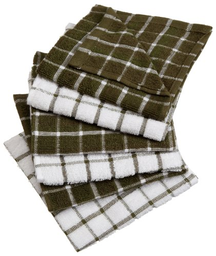 Excello Windowpane Combo Dish Cloth White and
