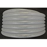 "2"" x 25' Clear Flexible PVC Suction and Discharge Hose with White Reinforced Helix"