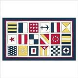 Kids Nautical Flags Ivory/Blue