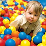 Pack of 100 Balls for Moose Mountain Playsets - 5 Bright Colors in a Mesh Bag