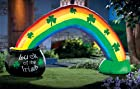 Collections Etc - Pot Of Gold W/ Rainbow Lighted St. Patrick's Day Inflatable