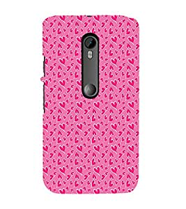 EPICCASE pinky little hearts Mobile Back Case Cover For Moto X Style (Designer Case)