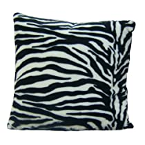Brunton International Zebra Pillow, 20 by 20-Inch, Black/White