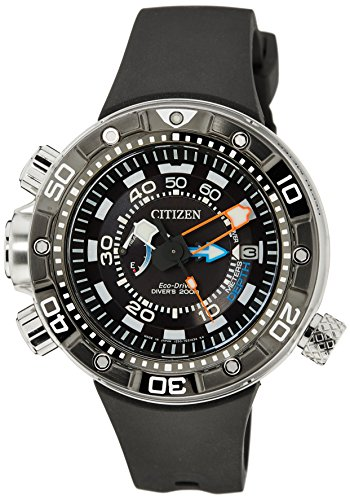 Citizen-Herren-Armbanduhr-XL-Promaster-Marine-Eco-Drive-Aqualand-Analog-Quarz-Kautschuk-BN2024-05E