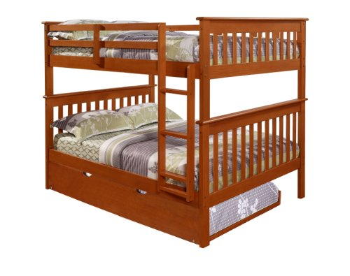 Black friday bunk bed full over full with trundle in for Black friday bed frames sales