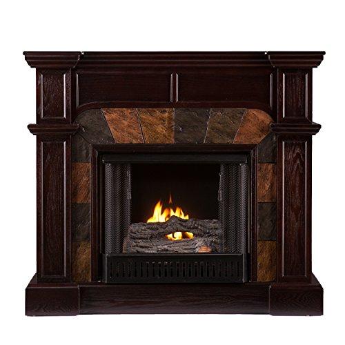 Sei Cartwright Convertible Gel Fuel Fireplace Slate Espresso Home Decor