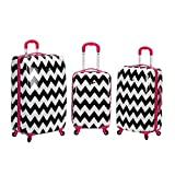 Rockland 3 Piece Upright Set, Pink Chevron, One Size