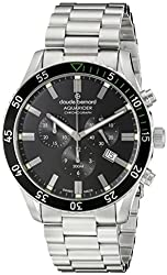 Claude Bernard Men's 10223 3NVM NV Aquarider Stainless Steel Watch with Black Dial