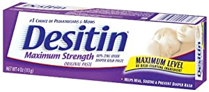 Desitin Maximum Strength Paste, 4-Ounce (Pack of 2)