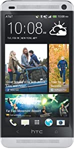 HTC One 4G Android Phone, Glacial Silver (AT&#038;T)