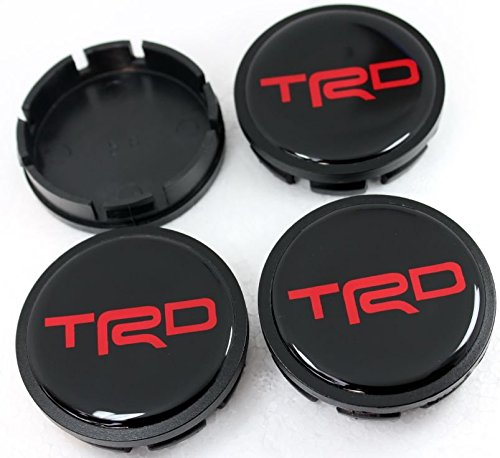 Cap 56 MM Toyota TRD Red Resin Sticker Decals Center Wheel Caps Cover Hub Rim 4 Pcs (Trd Resin compare prices)