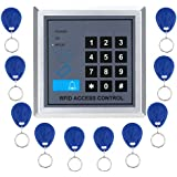 Docooler RFID Proximity Door Entry Access Control System + 10 Key Fobs (Style 1)