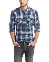 edc by ESPRIT - Chemise casual - Col chemise classique - Manches longues Homme