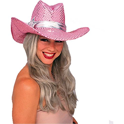 Pink Sequin Cowgirl Adult Hat
