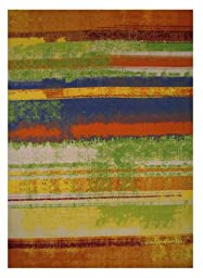 LA Rug Botticelli Abstract Geometric Area Rug (5 by 8 Foot) 507-01-0508