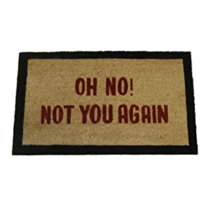 Geo Crafts 18-inch-by-30-inch PVC Backed Coir Doormat