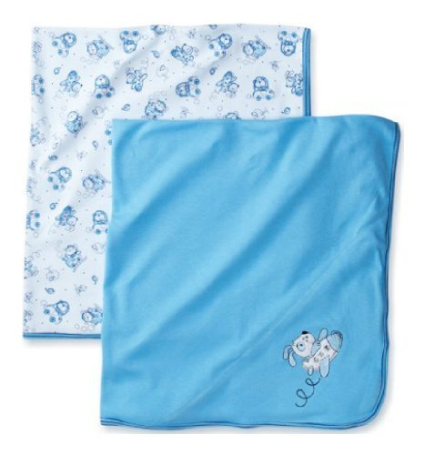Absorba - Set of 2 - Blue Baby Blankets - 1