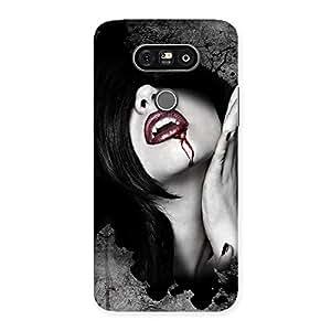 Stylish Wonder Lips Red Back Case Cover for LG G5