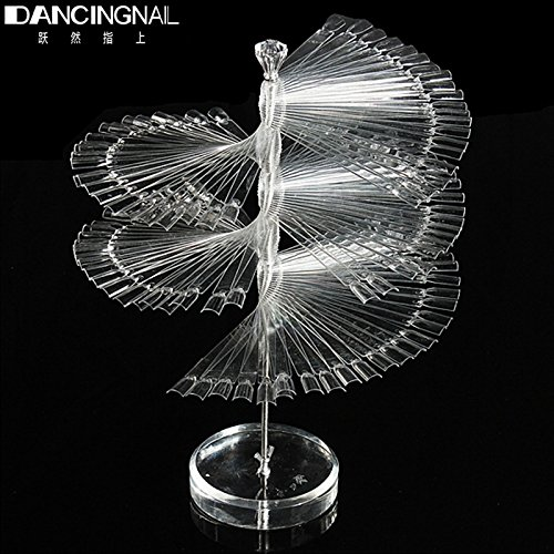 GreenSun(TM) Professional 120 Stick Nail Art Clear Large Display Stand Spiral Display Shelf Practice Tools For Solon Nails Polish Gel Show