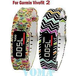 VOMA USA Garmin Vivofit 2 Wristband/Garmin Band/Garmin Vivofit 2 Band/Garmin Wristband/Garmin Bracelet/Garmin replacement band(204)