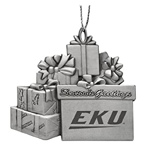 East Kentucky University - Pewter Gift Package Ornament