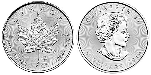 2014 Ca Canadian Maple Leaf Silver Coin 1 Ounce Silver Dollar Mint Uncirculated