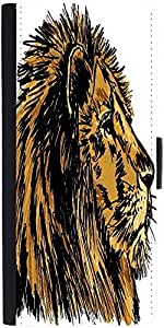 Snoogg Sketch Of A Big Male African Lion Vector Illustration Designer Protect...